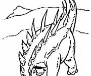 Coloriage dessin  Dinosaure 9