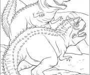 Coloriage et dessins gratuit Dinosaure Ankylosaure à imprimer