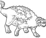 Coloriage Dinosaure avec quatre cornes