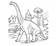 Coloriage Dinosaure Brachiosaure