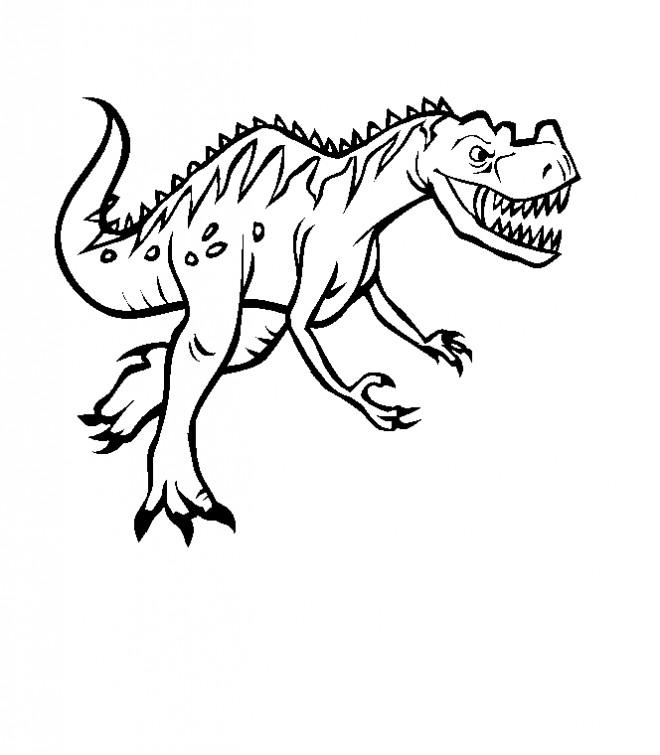 Coloriage dinosaure carnivore dessin gratuit imprimer - Dessins de dinosaures ...
