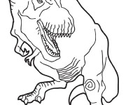 Coloriage Dinosaure de Jurassic park