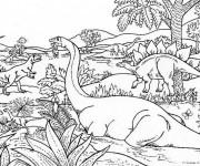 Coloriage et dessins gratuit Dinosaure dessin animé à imprimer