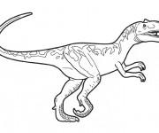 Coloriage et dessins gratuit Dinosaure en couleur à imprimer