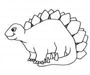 Coloriage et dessins gratuit Dinosaure en ligne à imprimer