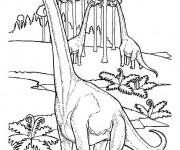Coloriage et dessins gratuit Dinosaure herbivore à imprimer