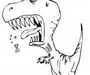 Coloriage Dinosaure humoristique