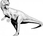 Coloriage Dinosaure noir et blanc