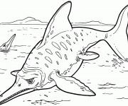 Coloriage dinosaure poisson dessin gratuit imprimer - Dinosaure film gratuit ...