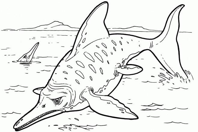 Coloriage dinosaure poisson dessin gratuit imprimer - Coloriage de dinosaure a imprimer gratuit ...