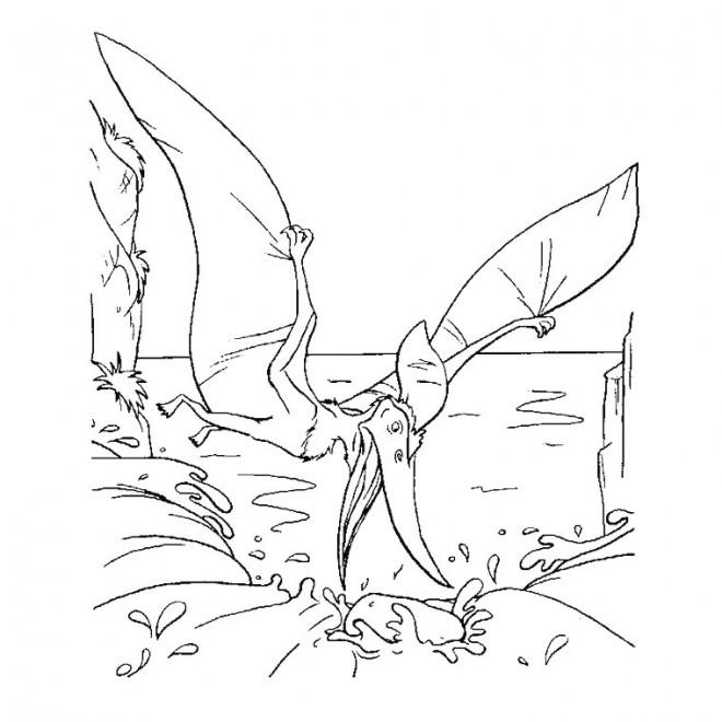 Coloriage Dinosaure Ptéranodon Dessin Gratuit à Imprimer