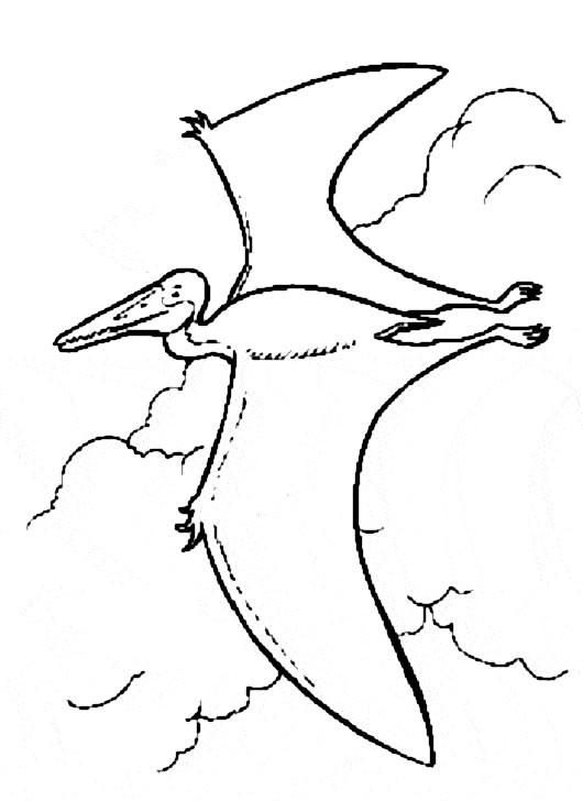 Coloriage et dessins gratuits Dinosaure qui vole à imprimer