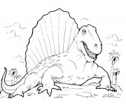Coloriage Dinosaure Spinosaure