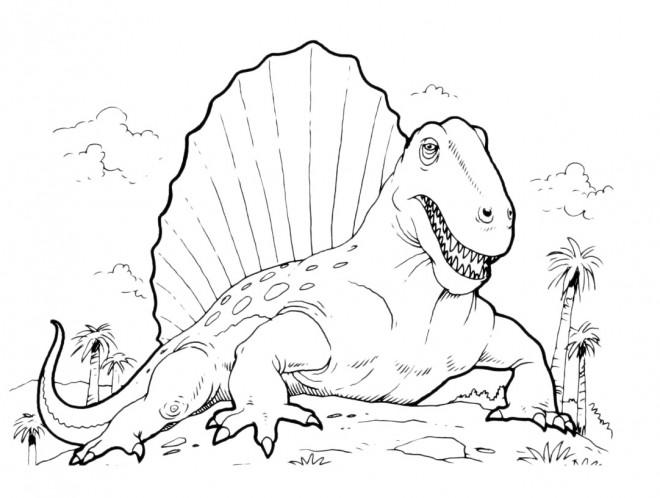 Coloriage Dinosaure Spinosaure dessin gratuit à imprimer