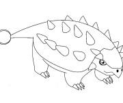 Coloriage Dinosaure Stégosaure