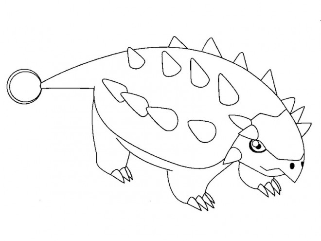 Coloriage Dinosaure Stegosaure Dessin Gratuit A Imprimer