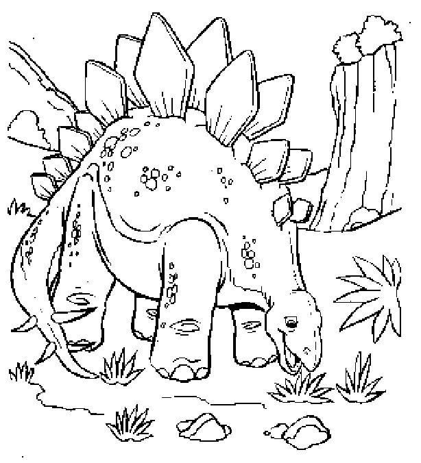Coloriage Dinosaure Stegosaure En Ligne Dessin Gratuit A Imprimer