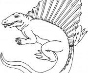 Coloriage Dinosaure Stegosaurus dessin