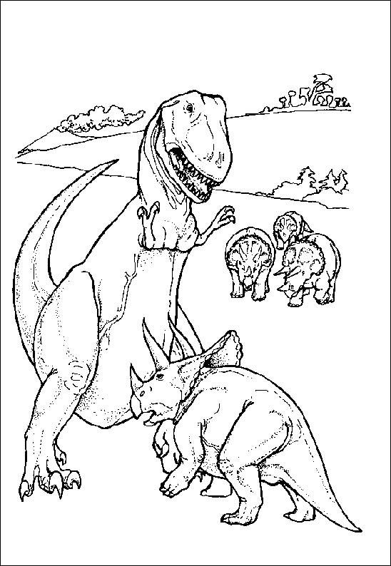 Coloriage et dessins gratuits Dinosaure Tricératops à imprimer