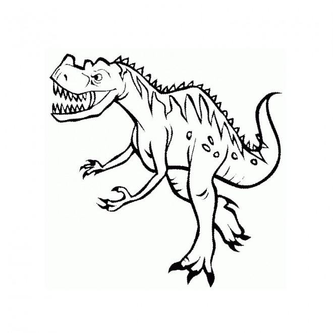 Coloriage Dinosaure Tyrex Dessin Gratuit à Imprimer