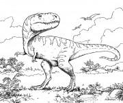 Coloriage Dinosaure tyrex au crayon