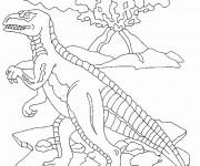 Coloriage Dinosaure vélociraptor