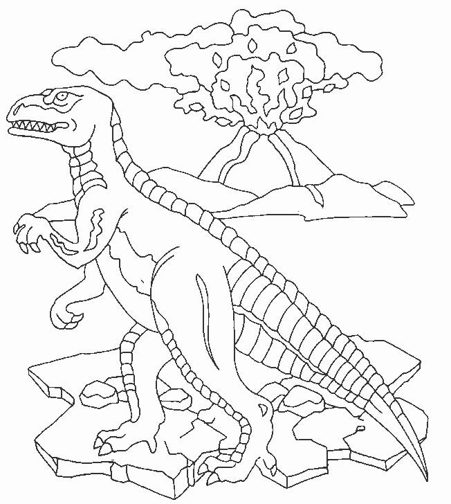 Coloriage et dessins gratuits Dinosaure vélociraptor à imprimer