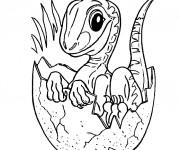 Coloriage Nouveau né dinosaure