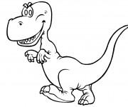 Coloriage et dessins gratuit Petit dinosaure à imprimer