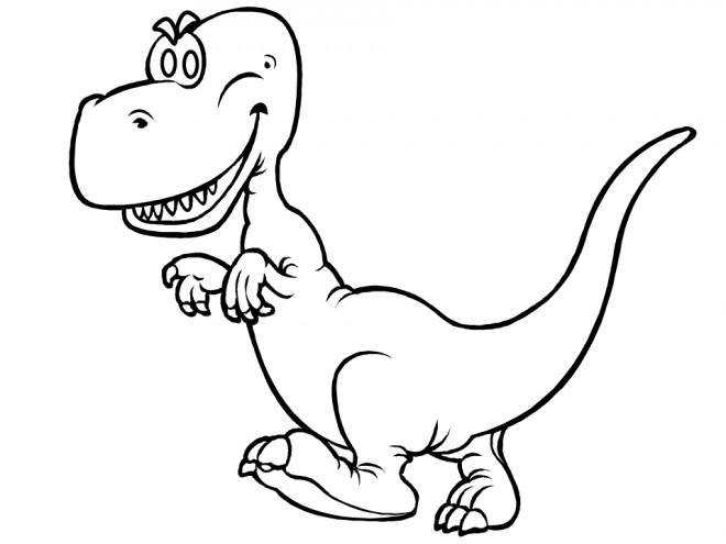 Coloriage et dessins gratuits Petit dinosaure à imprimer