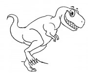 Coloriage Petit dinosaure souriant