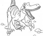 Coloriage Vélociraptor féroce