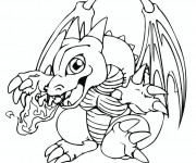 Coloriage dessin  Dragon 14