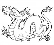 Coloriage dessin  Dragon 3