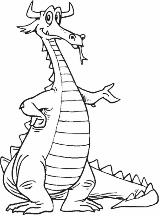 Coloriage et dessins gratuits Dragon avec des crones à imprimer