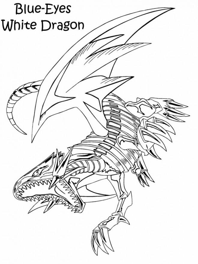 Coloriage et dessins gratuits Dragon Blue Eyes à imprimer