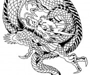 Coloriage Dragon chinois maternelle