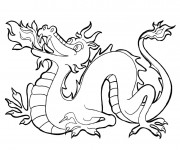 Coloriage Dragon couleur