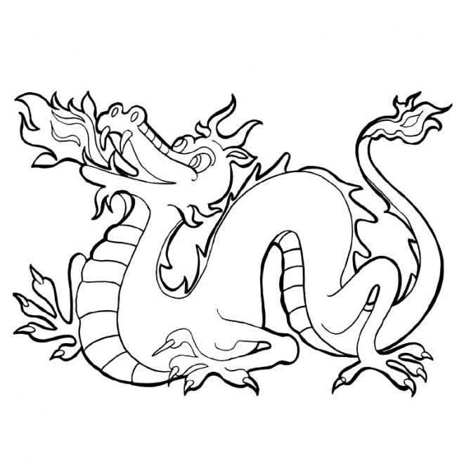 Coloriage et dessins gratuits Dragon couleur à imprimer