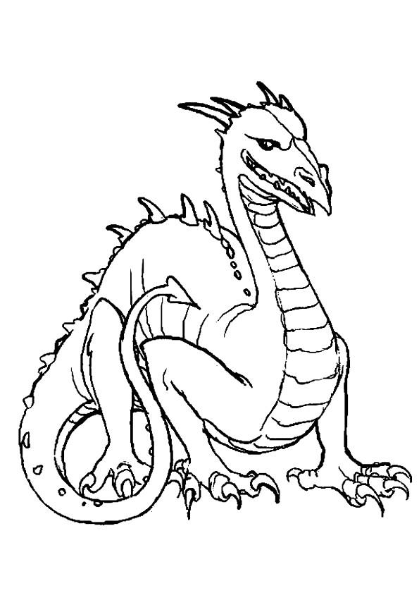 Coloriage et dessins gratuits Dragon dessin simple à imprimer