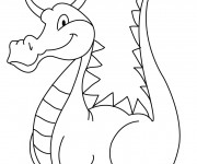 Coloriage Dragon en souriant