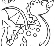 Coloriage Dragon facile
