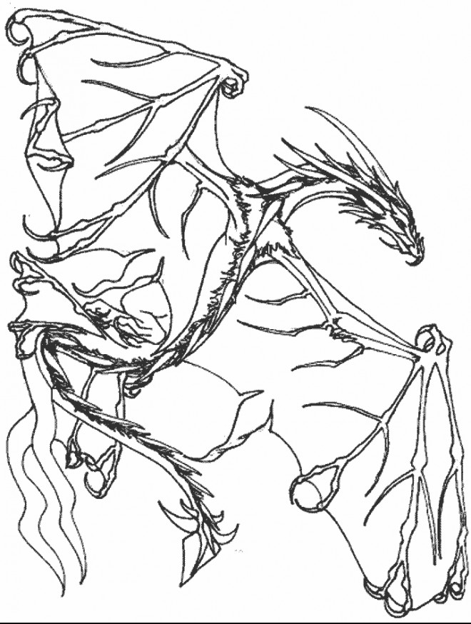 Coloriage dragon imaginaire dessin gratuit imprimer - Dessins dragon ...
