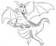 Coloriage Dragon jolie