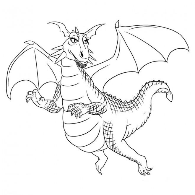 Coloriage dragon jolie dessin gratuit imprimer - Imprimer dragon ...