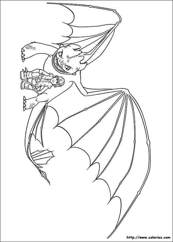 Coloriage Dragon Krokmou dessin gratuit imprimer
