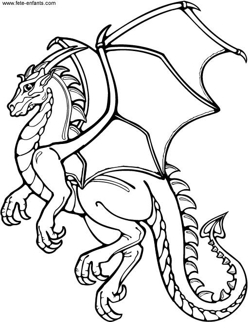Coloriage et dessins gratuits Dragon magique à imprimer