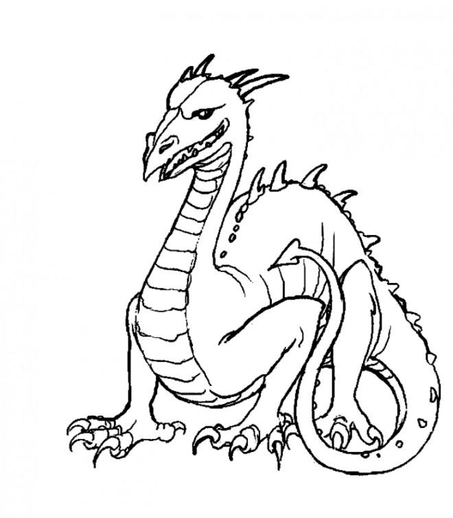 Coloriage dragon pour enfants dessin gratuit imprimer - Modele dessin dragon ...