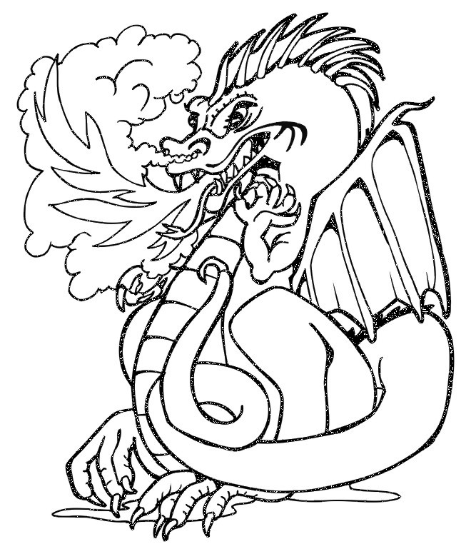 dragon coloring pages realistic girls - photo#42