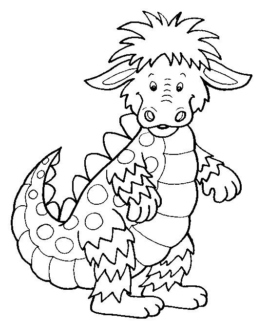 Coloriage et dessins gratuits Petit Dragon mignon à imprimer